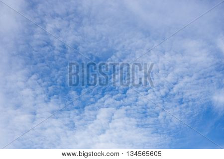 Cirrus cloud on blue sky nature abstract background