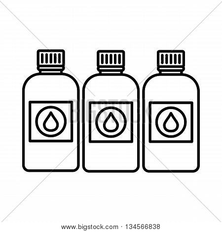 Printer ink bottles icon in outline style isolated on white background