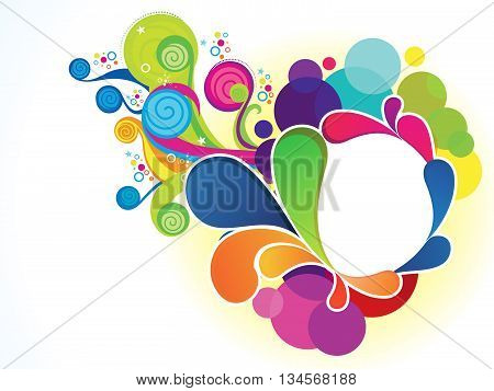 abstract artistic colorful floral explode vector illustration