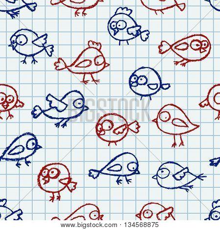 Cute Little Birds Pattern