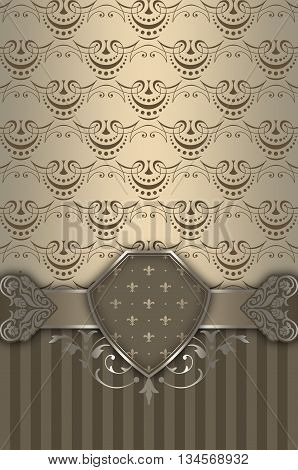 Vintage background with decorative border and elegant patterns.