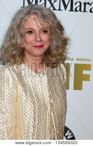 LOS ANGELES - JUN 15:  Blythe Danner at the Women In Film 2016 Crystal and Lucy Awards at the Beverly Hilton Hotel on June 15, 2016 in Beverly Hills, CA
