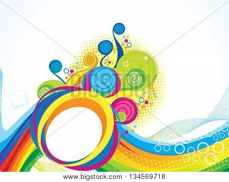 abstract artistic colorful explode background vector illustration