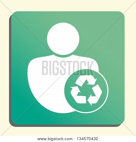 Recycle Icon In Vector Format. Premium Quality Recycle Symbol. Web Graphic Recycle Sign On Green Lig