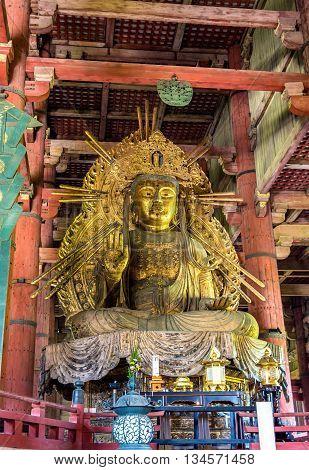 Statue of Nyoirin Kannon in Todai-ji temple - Nara, Japan