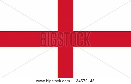 English Flag Cross of St. George in correct proportions and colors