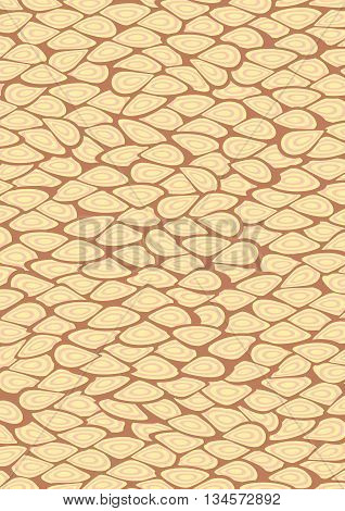 Yellow and Brown cells patterns for background. Vector Illustration.