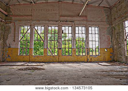 Windows in an abandoned complex, Lost Place