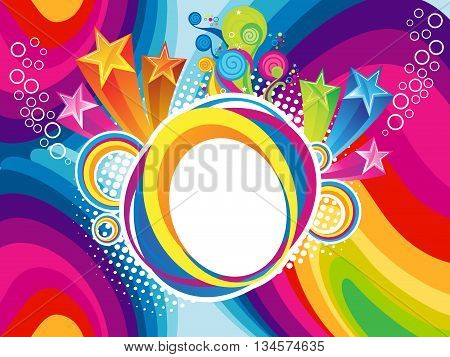 abstract rainbow artistic explode background vector illustration