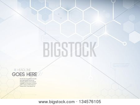 Vector of abstract polygon background