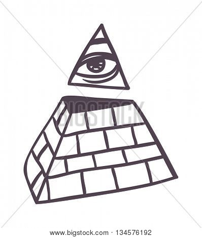 Pyramide vector illustration.