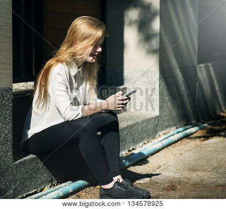 Girl Minimal Casual Attractive Simplicity Style Concept