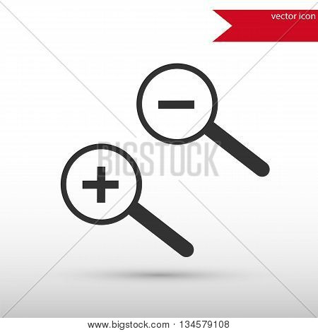 Magnifying glass isolated. Black icon vector and jpg. Flat style object. Art picture drawing. Eps 10. Elements for your design. Web icons.