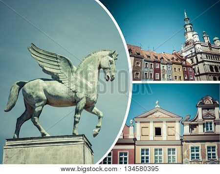 Collage Of Poznan ( Poland ) Images - Travel Background (my Photos)