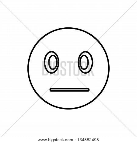 Suspicious emoticon icon in outline style isolated on white background