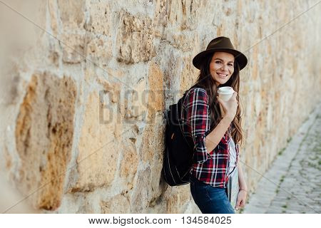Young Woman Traveling Alone