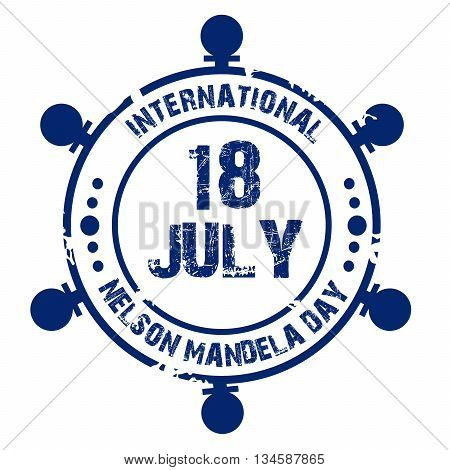 Illustration of a stamp for International Nelson Mandela Day.