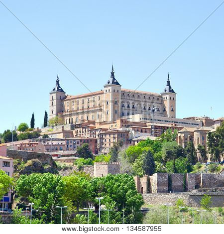 Alcazar fortress in Toledo, Spain