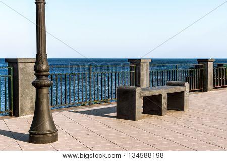Bench And Streetlight