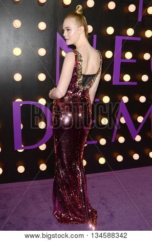 LOS ANGELES - JUN 14:  Elle Fanning at the The Neon Demon Premiere at the Cinerama Dome on June 14, 2016 in Los Angeles, CA