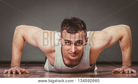 Man Making Pushups,