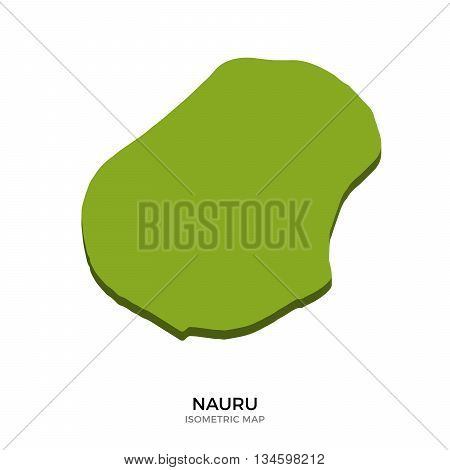 Isometric map of Nauru detailed vector illustration. Isolated 3D isometric country concept for infographic
