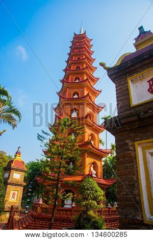 Hanoi.vietnam. Tran Quoc Pagoda.