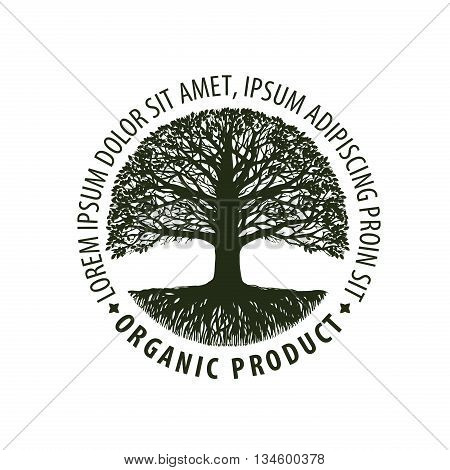 Logo tree. organic, Natural product. Nature, ecology symbol Environmentally friendly icon