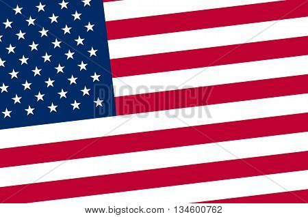Vector Image Of American Flag Independence Day