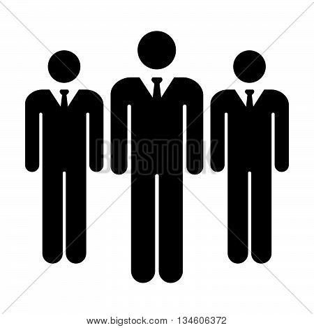 People Icon - Businessmen, Team, Group, Management Icon in Glyph Vector illustration