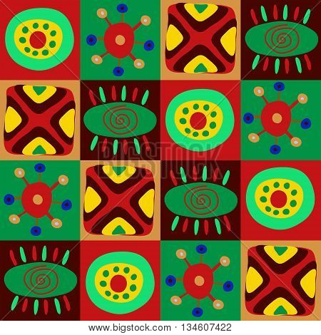 The african primitive pattern in a squares