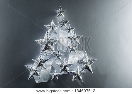 Sparkling Stars And Silver Ribbon