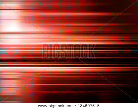 Light streaks over a red blurred pattern background