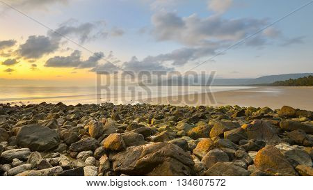 Sunrise at Four Mile Beach at Port Douglas, Queensland, Australia.