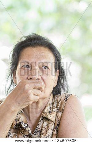 Portrait of Asian Thai senior woman 70s years old