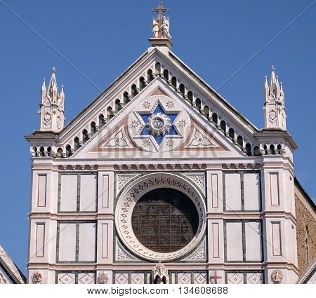 FLORENCE, ITALY - JUNE 05: The Basilica di Santa Croce (Basilica of the Holy Cross) - famous Franciscan church in Florence, Italy, on June 05, 2015