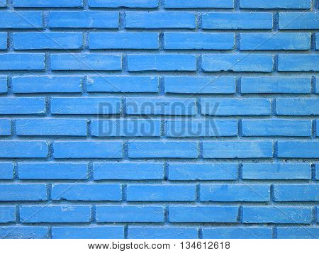 Stock Photo - Blue brick wall texture background