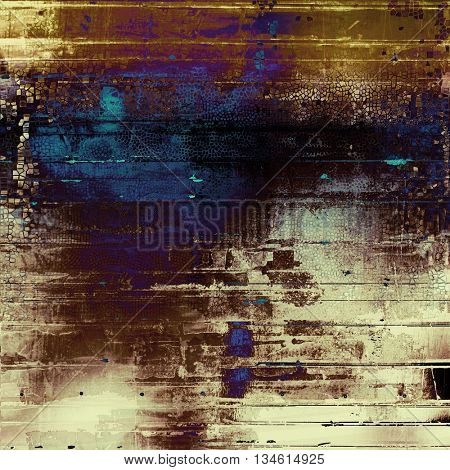 Stylish grunge texture, old damaged background. With different color patterns: yellow (beige); brown; blue; purple (violet); black; white