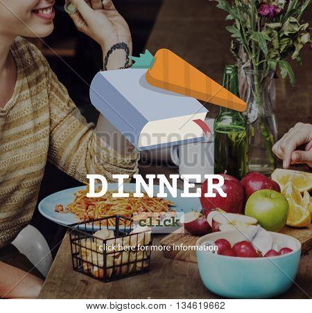 Dinner Diner Mene Food Concept