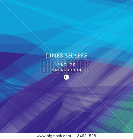 Colorful abstract vector background blue purple transparent wave lines shapes for brochure website and flyer design. Blue smoke wave form. Purple wavy shapes background.