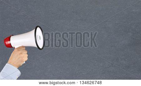 Empty Board Blank Business Concept Copyspace Copy Space Information Message Megaphone