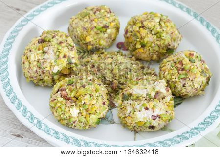Cheese Prosciutto Pistachios Balls