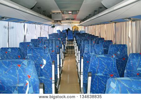 Photo of thr Interior of a modern interurban coach
