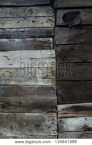 Vintage background of unpainted wooden bare boards