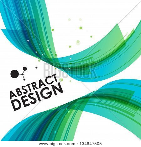 Abstract technology bend background, vector design, green template