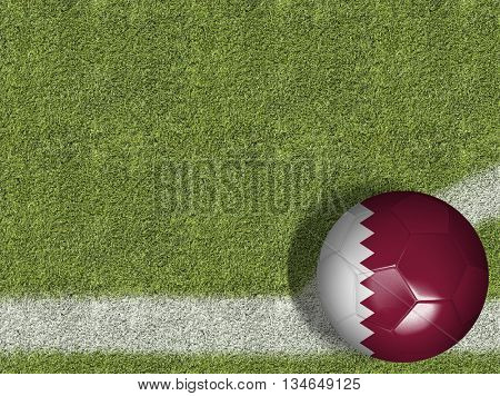 Qatar Ball in a Soccer Field