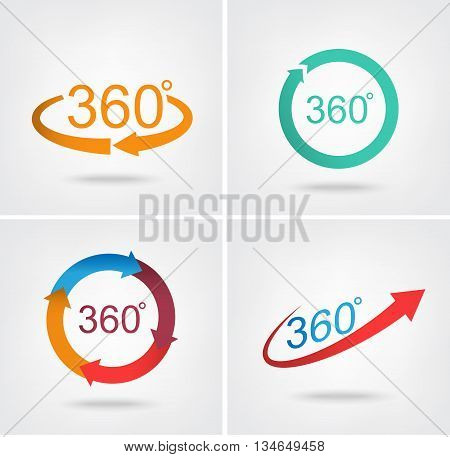 Angle 360 degrees sign icon Geometry math symbol