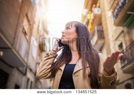 Girl Arguing Over The Phone