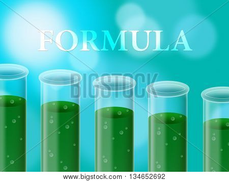 Formula Experiment Represents Formulas Studies And Test