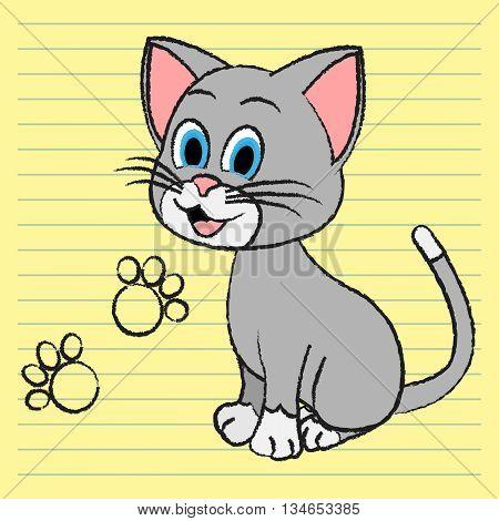 Cute Cat Means Adorable Pet And Feline